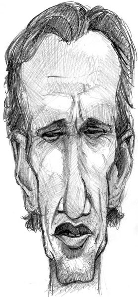 caricature of james woods